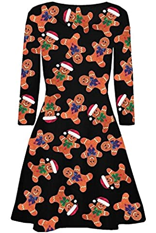 Kids Christmas Mother Daughter Swing Dress Girls Womens Gift Candy