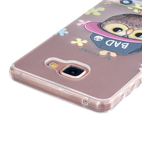 Linvei Hülle für iPhone 5/iPhone SE aus TPU Silikon mit Schöne Muster Design - Schutzhülle Cover in Transparent Niedliche Eule