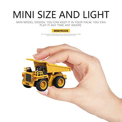 RC Auto kaufen Baufahrzeug Bild 4: Mecotech RC Auto Mini Ferngesteuerte Autos 1:64 Skala RC LKW Gabelstapler Ferngesteuert Baufahrzeuge Spielzeug für Kinder ab 6 Jahren*
