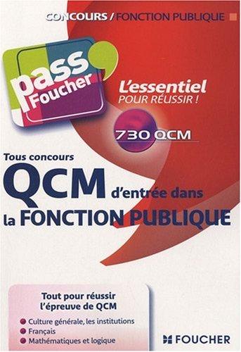 QCM d'entrée dans la fonction publique : Tous concours par François Chevalier