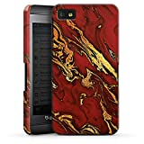 DeinDesign BlackBerry Z10 Hülle Premium Case Cover Marmor Look Rot Marble