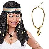 Cleopatra Kette Ägyptische Schlangen Halskette Göttin Schmuckkette Antike Pharao Schlangenkette Ägypterin Königin Kostüm Accessoire Collier Königskette