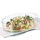 #10: Borosil Oval Baking Dish, 1.6 Litres, Transparent