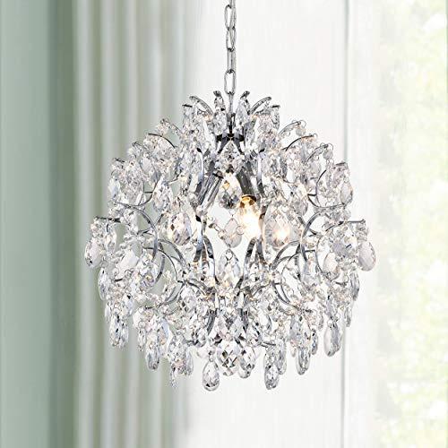 Moderne Anhänger Kronleuchter Kristall Regentropfen Beleuchtung Deckenleuchte Lampe für Esszimmer Badezimmer Schlafzimmer Wohnzimmer 3 E14 Lampen Erforderlichen Durchmesser 40 cm Höhe 45 cm -