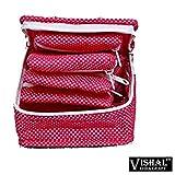 VISHAL INDIA CRAFT Fabric Multi-coloured Vanity Women's Case Organiser Bags/Purse