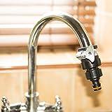 Universale per rubinetto miscelatore monocomando per cucina connettore adattatore tubo da giardino da montaggio a pinza