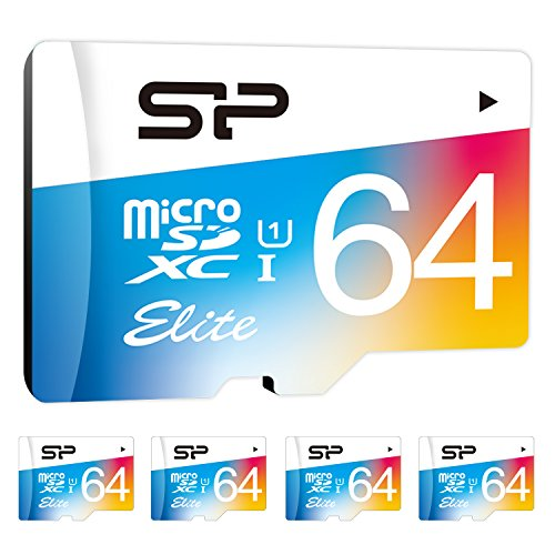 64GB x 5 , Classic Design : Silicon Power SP064GBSTXBU1V20AB 5PK 64GB Elite microSDHC UHS-1 Memory Card, with Adapter