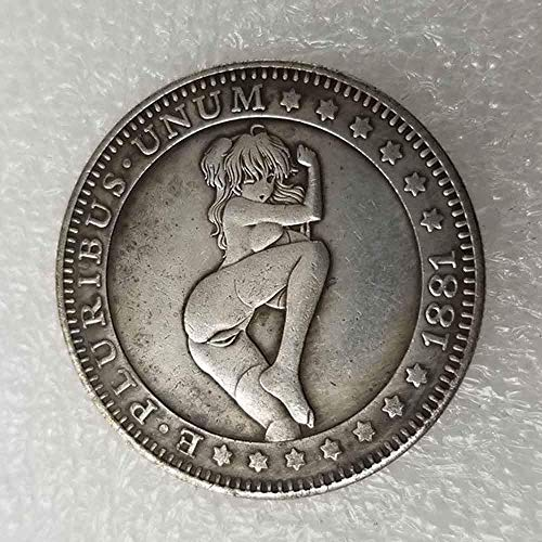 DDTing Best Morgan Silver Dollars - 1881 Hobo Nickel Münze - Old Coin Collecting - Silber-Dollar USA Old Morgan Dollar - überzogene Silbermünzen GoodService -