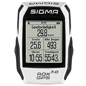 Sigma Sport Rox Gps 7.0 Ciclocomputador, Unisex Adulto, Blanco, Talla Única