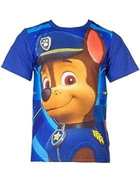 Paw Patrol T-Shirt für Kinder, original Lizenzware, blau, Gr. 98 - 116