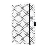 Sigel JN311 Carnet de notes Jolie, 13,5 x 20,3 cm, ligné, couverture rigide, blanc/noir