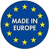 Original Eurogold Sicherheits Stahlleiter Leiter mit 5 Stufen - 150 kg Belastbarkeit - Profi Qualität Made in Europe -