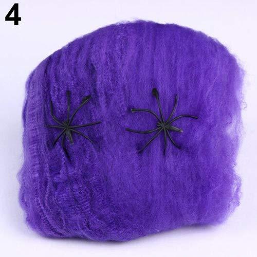 Bild Von Kostüm Medusa - LEUM SHOP Stretchable Scary Spider Web Party Decoration Halloween Prop Cobweb Spiderweb Purple
