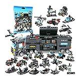 Compatible avec Lego City Voiture de Police pour Enfants Voiture de Police Avion Anti-déflagrant Bricolage Puzzle Team Assembly, Jouet à Particules Fines