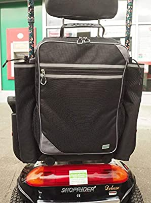 Flexi Mobility Bag Regular for Scooters & Wheelchairs - 2 x Walking Stick/Crutch Holders