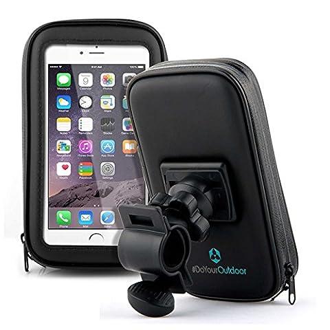 Fahrradhalterung Halter Lenkradhalterung Bike Holder mit wasserdichter Schutzhülle Tasche Universal für Smartphones, Handy, Navi, GPS ! Halterung 360 Grad drehbar / verschiedene Taschengröße :