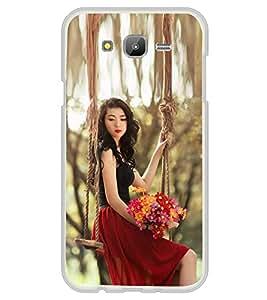 Fiobs Designer Back Case Cover for Samsung Galaxy E5 (2015) :: Samsung Galaxy E5 Duos :: Samsung Galaxy E5 E500F E500H E500Hq E500M E500F/Ds E500H/Ds E500M/Ds (Girl Lady Beautiful Nature Woods )