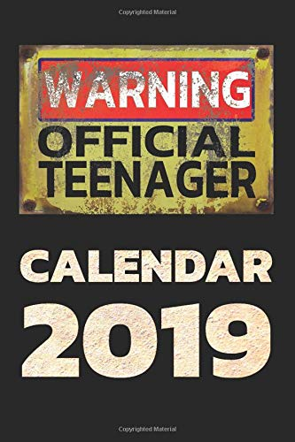 Warning Official Teenager Calendar 2019: Planner with calendar, to do lists, agenda organizer and contacts