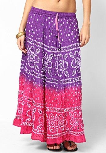 Soundarya Women Cotton Skirts -Pink -Free Size