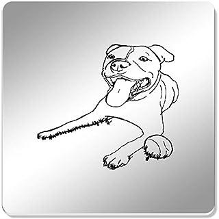 Azeeda 6 x 'Staffordshire Bull Terrier' 95mm Mirror Coasters (CR00040538)
