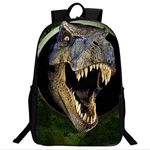 Dinosaur 3D Boys Zaino Sacchi di scuola di stampa animali per bambini Dinosauro zaino