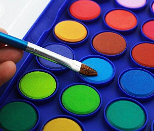 Kinder Ungiftig Aquarellfarben Set Aquarellkasten Wasserfarben Set mit 36 Wasserfarben Farbkasten Aquarell Farbe Kuchen mit Pinsel - 3