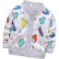 Huateng Baby Boys Girls Cardigan Unisex Baby Children Cartoon Cartoon Knit Cardigan Sweater Chaqueta para Niños