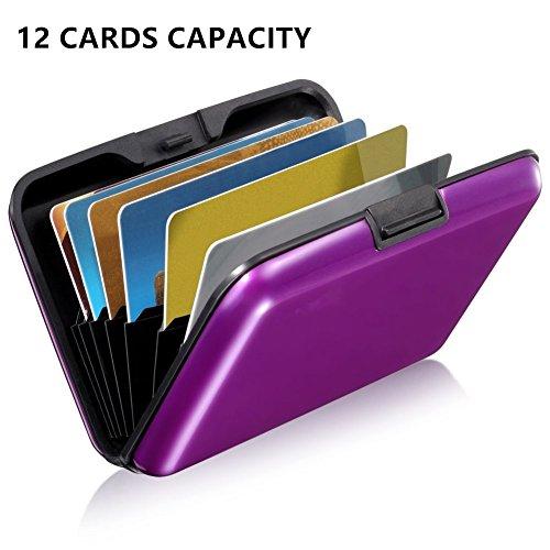12 ranuras RFID bloqueo cartera plegable estilo acordeón. Ligero para caber en el bolsillo o bolso. Protege tarjetas de crédito de privacidad RFID escaneo ladrones Protege tus tarjetas de crédito y dinero en efectivo con la cartera de aluminio de la ...
