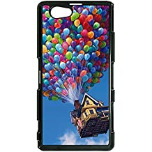 Beauty Style Funny Design Cartoon Up Cover Case for Sony Xperia Z1 Compact Anime Up Series Phone Case