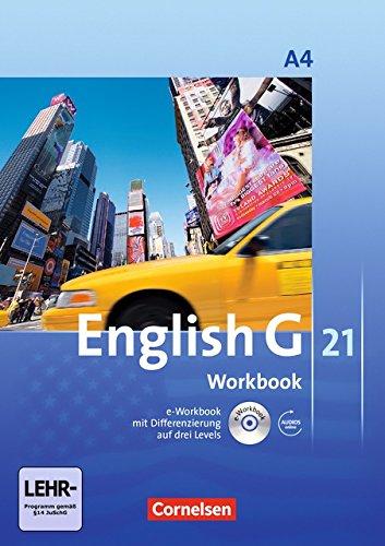 English G 21. Ausgabe A 4. Workbook mit CD-ROM und Audios online: 8. Schuljahr