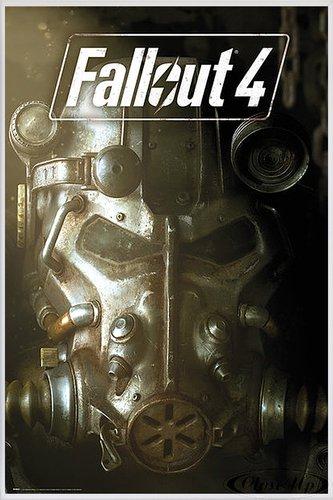 Fallout 4 Poster Maske (93x62 cm) gerahmt in: Rahmen Weiss