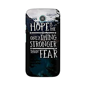 Mobicture Hope Quote Designer Printed Hard Case Cover - [Hard Poly Carbonate] [Slim-fit] [Shock-Proof] Back Cover for Moto G2