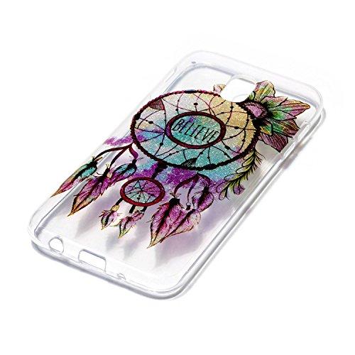 Hülle für Samsung Galaxy J5 2017, Case Cover für Samsung Galaxy J5 2017 [Scratch-Resistant] , ISAKEN Ultra Slim Perfect Fit Malerei Muster Weiche TPU Silikon Durchsichtig Transparent Protective Rückse Dream Catcher