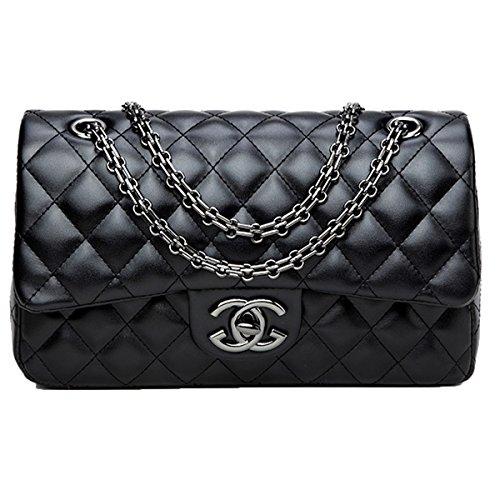 4f24694b77d0 Damen Handtaschen Crossbody Taschen Kette Schultertaschen Fashion Mini Bags  28x16x8cm(Black1, One size)