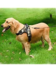 PSK Pet Supplies K9 Harness for Large Dogs That Has Adjustable Straps Pet Vest Harness Safety for Dogs (Large, Camouflage)