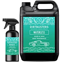 Waterless Car Wash and wax mint fragrance 5 litres + 500ml spray car cleaner easy spray on wipe off formula with premium grade polymer wax for streak free professional valeting grade clean