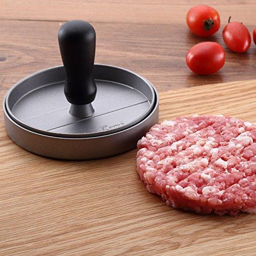 51IadaC%2BSXL - Neueste Antihaft Burgerpresse - Lebenslange Ersatzgarantie - Best bewertetes Grillzubehör - Ultimatives Hamburger Grill Set - Perfektes Grillzubehör Oder Geschenk für Mann, Vater, Ehemann