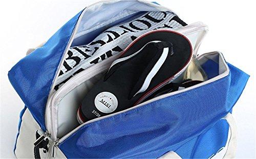 Vimeet Wasserdicht Trocken Nass Getrennt Sporttasche Trainingstasche Fitness Tasche Sport Tasche Blau