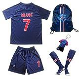 Paris Mbappe Trikot Set #7 Heim 2018/19 Kinder Fussball Trikot Mit Shorts und Socken Kinder (11-12)