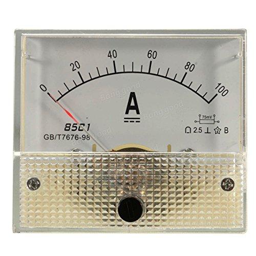 DC 100A Analog Amperemeter -Panel AMP Current Meter 85c1 Spur 0-100A DC mit Shunt -
