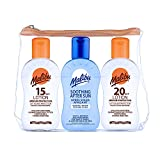 MALIBU TRAVEL SET PACK 1x 100ML SUN LOTION SPF15, 1x 100ML SPF20 AND 1 x 100 ML AFTER SUN 100ML CREAM