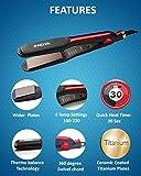 Nova NHS-982 Professional Hair Straightener (Red)