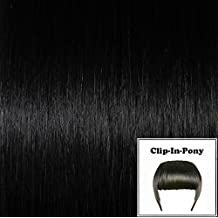 Global Extend Clip-In-Pony - Coleta postiza, 20 g, 1 unidad, color negro