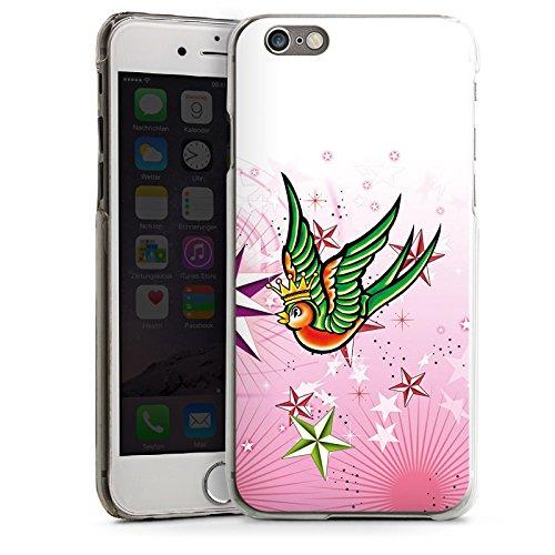 Apple iPhone 4 Housse Étui Silicone Coque Protection Simulation Oiseau Étoiles CasDur transparent