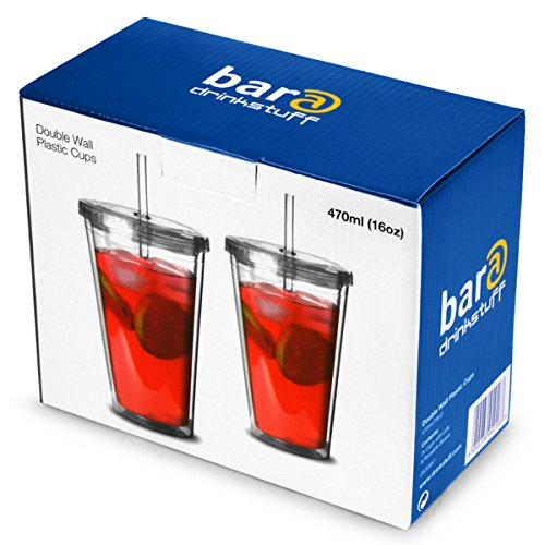 Double-Wall-Plastic-Cups-16oz-470ml-Set-of-2-BPA-Free-Plastic-Tumblers-with-Lid-and-Straw