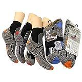3 Paar Funktionssocken Wandernsocken Outdoor Trekkingsocken Baumwolle Socken Frotteesohle