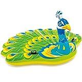CSYY-YJ Letto Gonfiabile del Grande Pavone, Fila di galleggiamento Adulto, Giocattolo Gonfiabile di Guida dell'Acqua Spessa, Letto Gonfiabile Ecologico della Spiaggia del PVC