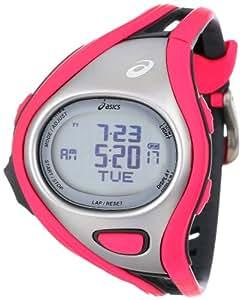 Asics Unisex-Armbanduhr DIGITAL SPORTWATCH CHALLENGE S pink/silber Digital Plastik CQAR0306