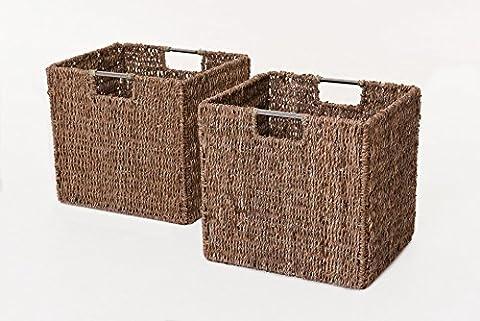 VIVANNO 2 Regalkörbe aus Seegras f. Ikea Expedit / Bonde natur