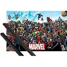 Póster + Soporte: Marvel Comics Póster (91x61 cm) Universo Y 1 Lote De 2 Varillas Negras 1art1®